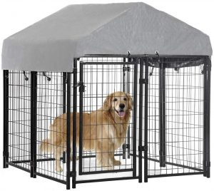 Bestpet Dog Crate With Roof For Large Dogs