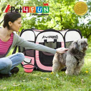 Picassotiles Pet4fun Portable Pet Puppy Dog Cat Animal Playpen Yard