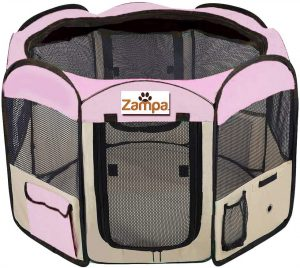 Zampa Portable Pet Crate And Playpen