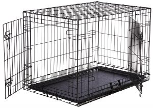 AmazonBasics Single Door Double Door Folding Metal Dog Crate Product Image