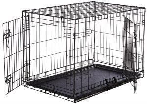 AmazonBasics Single Door Double Door Folding Metal Dog Crate Product Image