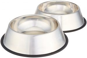 AmazonBasics Stainless Steel Dog Bowl Product Image