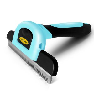 DakPets Deshedding Brush-Dog Hair Cat Hair Shedding Tool with Stainless Steel Trimming Blade-Effective Grooming Tool Product Image