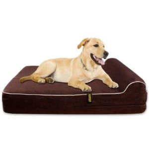 KOPEKS Orthopedic Memory Foam Dog Bed With Pillow and Waterproof Liner product image