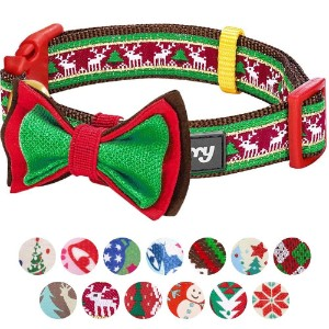 Blueberry Pet Christmas Holiday Gift Dog Collars Or Bowtie Product Image