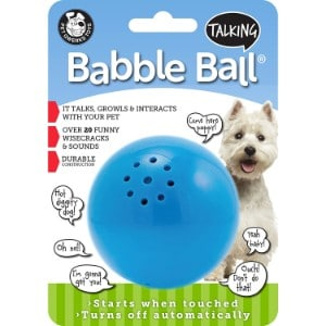 Pet Qwerks Talking Babble Ball Dog Toy Product Image