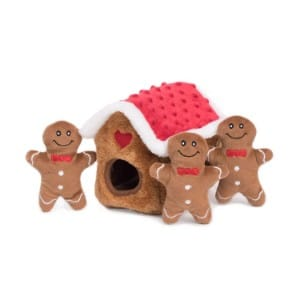 Zippypaws Holiday Burrow, Interactive Squeaky Hide And Seek Plush Dog Toy Product Image