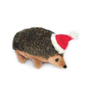 Zippypaws Holiday Hedgehog Squeaky Plush Dog Toy Product Image