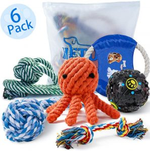 Hetoo Dog Rope Chew Toys Pack For Small Medium Dogs