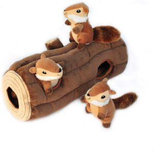 Zippypaws Woodland Friends Burrow, jouet de chien en peluche Squeaky Hide and Seek interactif