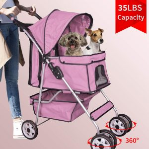 Bigacc 4 Wheels Dog Stroller