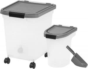 Inspired Essentials 3piece Airtight Plastic Pet Food Storage Container