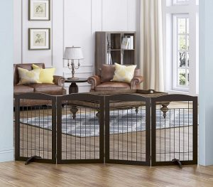 Spirich Freestanding Wire Pet Gate