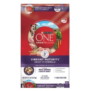 Purina One Smartblend Vibrant Maturity Adult 7+ Formula Dry Dog Food Product Image