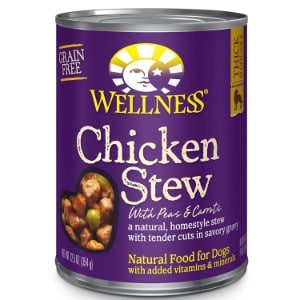 Wellness Thick & Chunky Natural Wet Grain Free Canned Dog Food Product Image