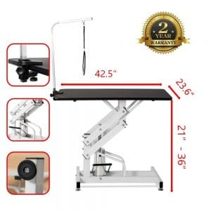 Puppykitty Z Lift Hydraulic Pet Grooming Table