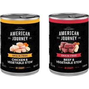 American Journey Stews Poultry & Beef Variety Pack Grain Free Canned Dog Food
