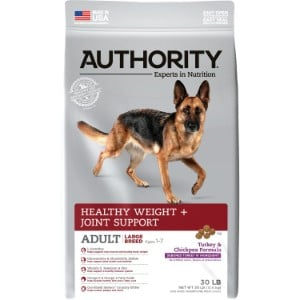 Authority Healthy Weight & Joint Support Turkey & Chickpea Formula Large Breed Adult Dry Dog Food
