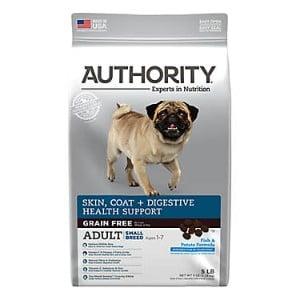 Authority Skin, Coat & Digestive Health Fish & Potato Formula Small Breed Grain Free Adult Dry Dog Food