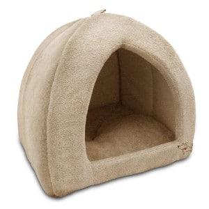 Best Pet Supplies Coral Fleece Tent Bed