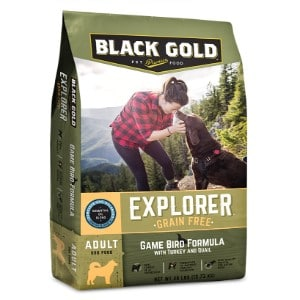 Black Gold Explorer Game Bird Formula With Turkey & Quail Grain Free Dry Dog Food