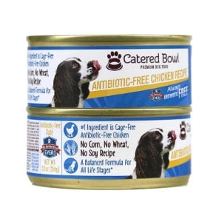 Catered Bowl Antibiotic Free Chicken Recipe Canned Dog Food