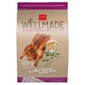 Cloud Star Wellmade Baked Duck Meal, Chickpeas, & Peas Recipe Grain Free Dry Dog Food