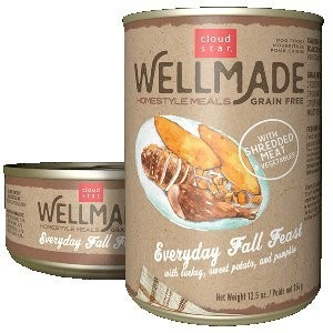 Cloud Star Wellmade Homestyle Meals Everyday Fall Feast With Turkey Recipe Grain Free Canned Dog Food