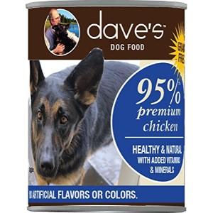 Dave's Pet Food 95% Premium Chicken & Chicken Liver Canned Dog Food