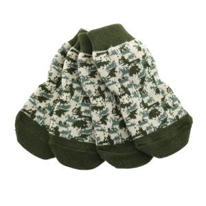 Doggie Design Camouflage Print Non Skid Dog Socks