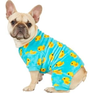 Frisco Rubber Ducky Print Dog & Cat Cozy Fleece Pjs
