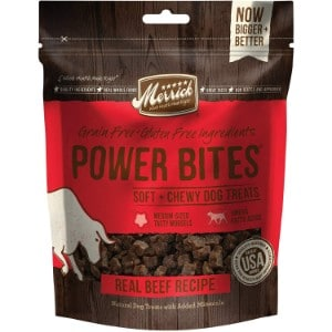 Merrick Power Bites Real Texas Beef Recipe Grain Free Soft & Chewy Dog Treats
