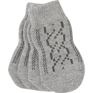 Pup Crew Non Skid Gray Cable Knit Dog Socks