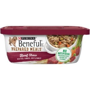 Purina Beneful Prepared Meals Beef Stew With Peas, Carrots, Rice & Barley Wet Dog Food