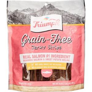 Triumph Grain Free Salmon & Sweet Potato Recipe Jerky Dog Treats