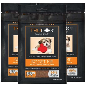 Trudog Boost Me Mighty Meaty Beef Booster Freeze Dried Dog Food Enhancer