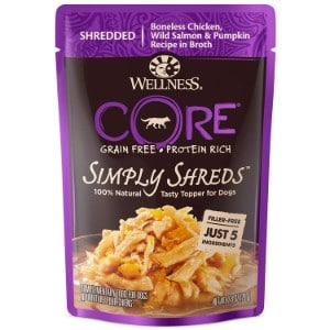 Wellness Core Simply Shreds Grain Free Chicken, Beef & Carrots Wet Dog Food Topper