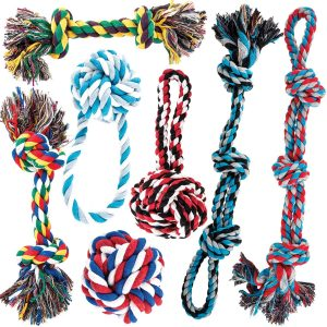 Amzpets Dog Toy Set For Large Dogs And Aggressive Chewers