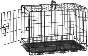 Amazonbasics 22 Inch Single Door & Double Door Folding Metal Dog Crate