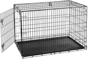 Amazonbasics Single Door Folding Metal Dog Crate
