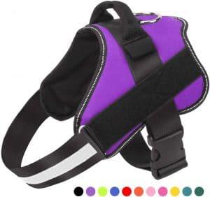 Bolux Dog Harness, No Pull Reflective Breathable Adjustable Pet Vest