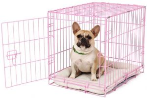 Carlson Pink Secure And Compact Single Door Metal Dog Crate