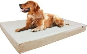 Dogbed4less Large Memory Foam Dog Bed