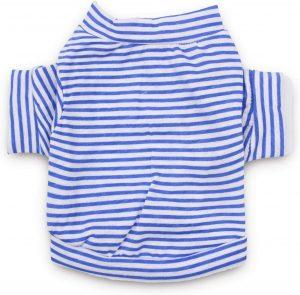 Droolingdog Dog Clothes Pet Striped T Shirt