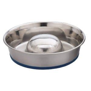 Durapet Ourpets Durapet Slow Feed Premium Stainless Steel Dog Bowl