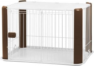 Iris Small Wire Dog Crate With Mesh Roof