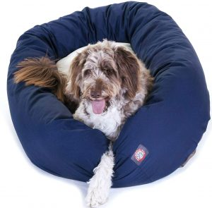 Majestic Pet Poly Cotton Sherpa Large Bagel Dog Bed
