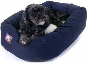 Majestic Pet Poly Cotton Sherpa Small Bagel Dog Bed