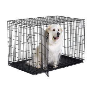 New World Folding Large Metal Dog Crate