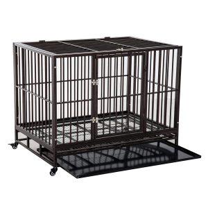 Pawhut 42 Heavy Duty Steel Dog Crate
